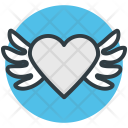 Bird Heart Shaped Icon