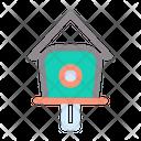 Bird House Nature Landscape Icon