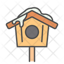 Winter Bird House Icon