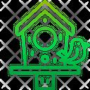 Bird House Garden Wood Icon