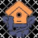 Bird House Spring Icon