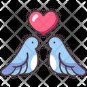 Love Bird Romantic Icon