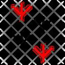 Paw Bird Mark Icon