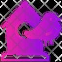 Spring Bird Birdhouse Icon