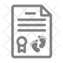 Certificate Child Baby Icon
