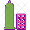 Birth Control Condom Tablets Icon