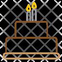 Birthday Party Cake Icon