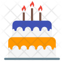 Birthday Cake Candle Icon