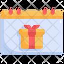 Calendar Presents Party Icon