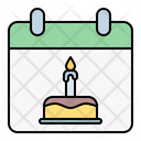Data Calendar Birthday Icon