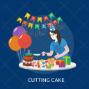 Cutting Cake Cut Icon