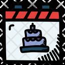 Birthday Calendar Date Icon