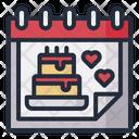 Birthday Date Birthday Cake Icon