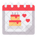 Birthday Date Birthday Cake Icon