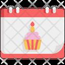 Birthday Cupcake Party Icon