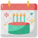 Birthday Calendar Party Icon