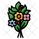 Birthday Bouquet Flowers Fragrance Icon