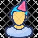 Birthday Boy Decoration Party Icon