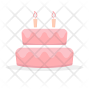 Cake Birthday Candle Icon
