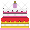 Cake Birthday Cake Cake With Candles Icon