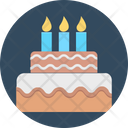 Birthday Cake Cake With Candles Cake Icon