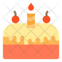 Birthday Cake Cake Candle Icon