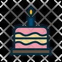 Birthday Cake Cake Candle Icon