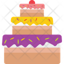 Birthday Cake Christmas Cake Party Icon