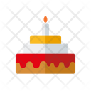 Birthday Cake Candle Cake Icon