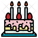 Birthday Cake Candle Food Icon