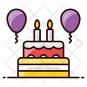 Party Cake Cake Cream Cake Icon