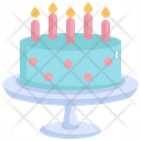 Cake Dessert Candle Icon