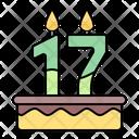 Cake Candle Birthday Icon