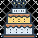 Birthday Cake Birthday Candle Icon