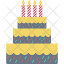Birthday Cake Cake Cake With Candles Icon