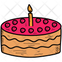 Birthday Cake Christmas Icon
