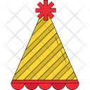 Party Cap Birthday Clown Birthday Cone Hat Icon