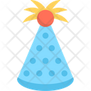 Birthday Cap Party Cap Cone Hat Icon