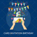 Birthday Card invitation Icon