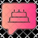 Birthday Chat Birthday Birthday Cake Icon