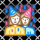 Guests Birthday Color Icon