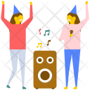 Birthday Music Party Icon
