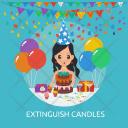 Extinguish Candles Cake Icon