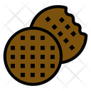 Biscuits Baked Cookies Chocolate Chip Cookies Icon