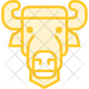 Bison Wild Face Icon