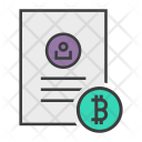 Bitcoin Shopping Document Icon