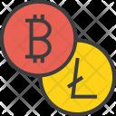 Bitcoin Litecoin Online Icon