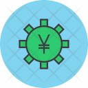 Bitcoin Settings Banking Icon