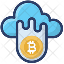 Bitcoin Blockchain Cloud Computing Icon