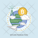 Bitcoin Transaction Cloud Icon